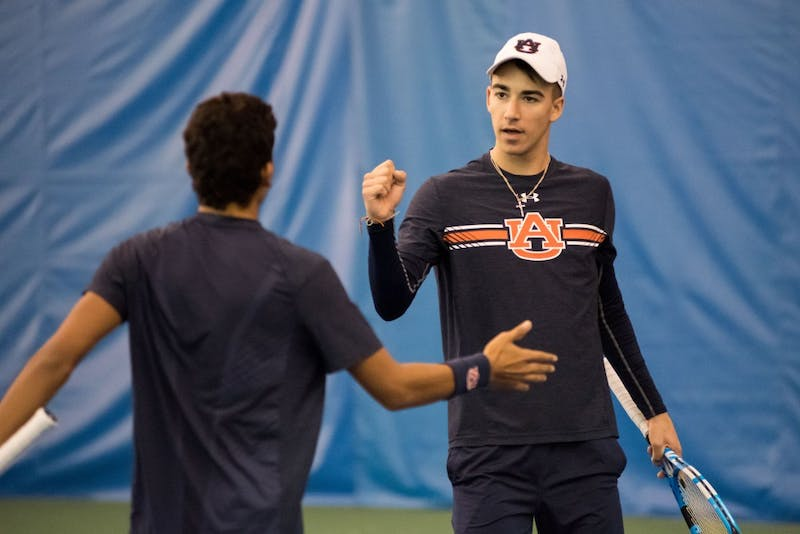 Auburn Men's Tennis vs. Jackson State at Yarbrough Tennis Center in Auburn, Ala. on Sunday, Jan. 14, 2018.