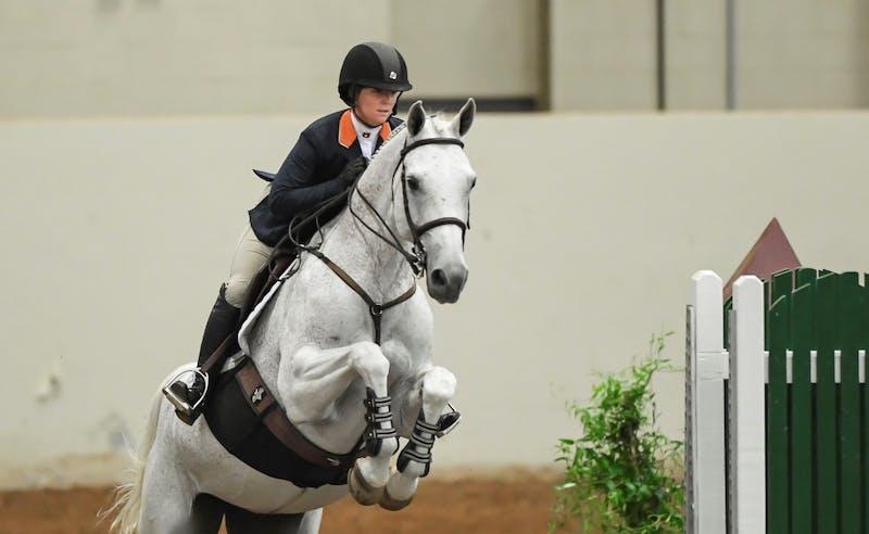Ashton Alexander (11048). Auburn Equitation Over Fences advances to the event final Friday