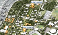 An illustration in the Campus Master Plan shows the proposed College of Education building.