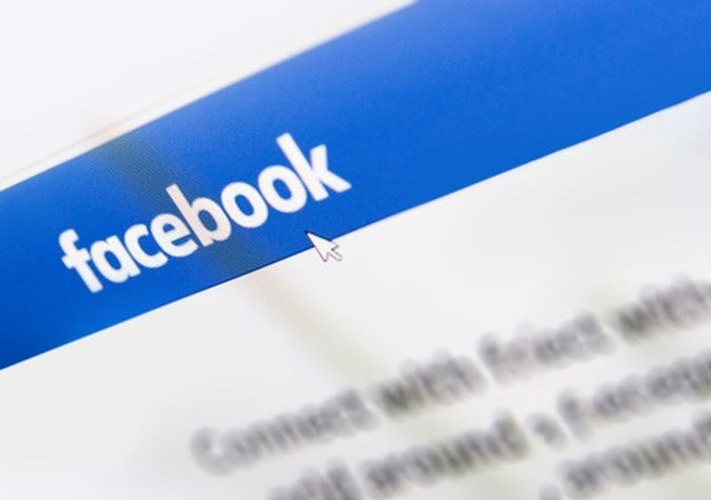 Facebook logo homepage on a monitor screen. (Dreamstime/TNS)
