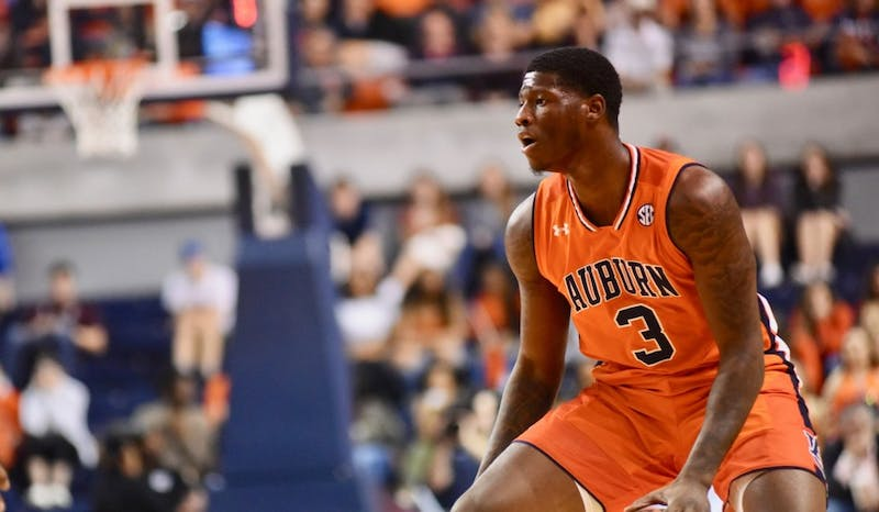 Danjel Purifoy (3) during Auburn Men's Basketball vs. Mississippi State on March 2, 2019, in Auburn, Ala.