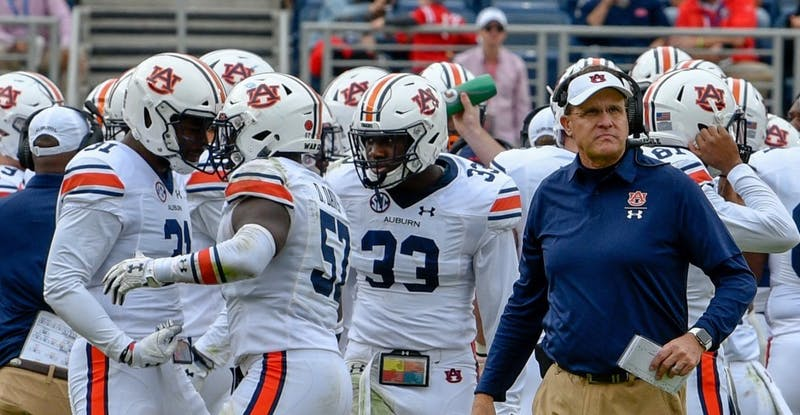 Auburn head coach Gus Malzahn during Auburn football vs. Ole Miss on Oct. 20, 2018, in Auburn, Ala.
