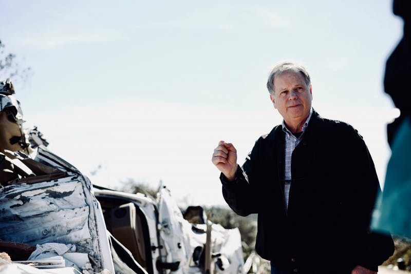 GALLERY: Alabama Senator Doug Jones tours tornado damage