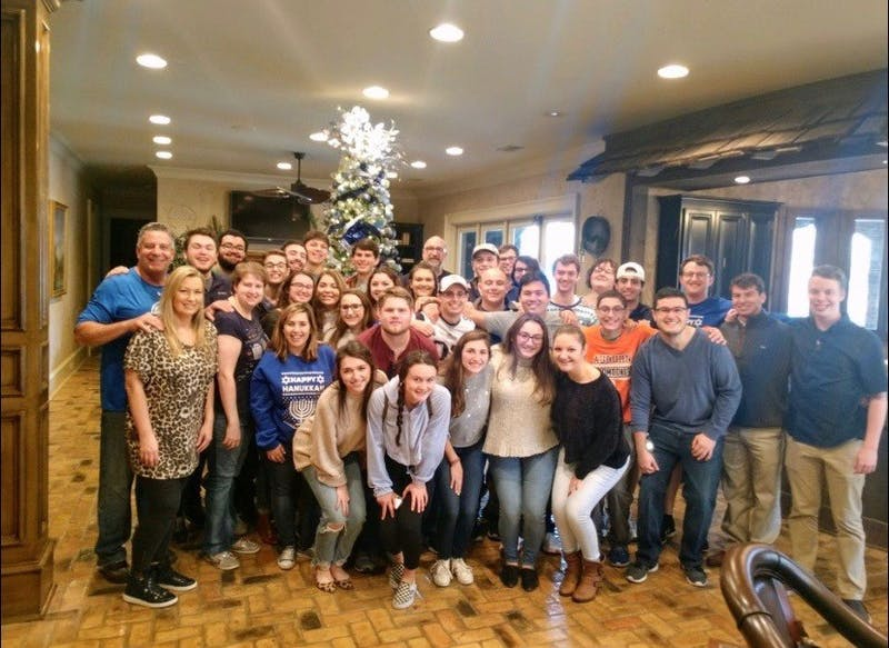 Contributed by Clio Straus Hillel gathered at Bruce Pearl's Hanukkah party.
