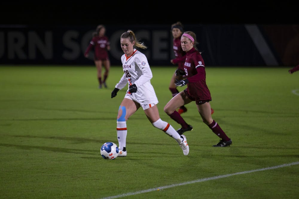 Auburn soccer falls to South Carolina on Senior Night