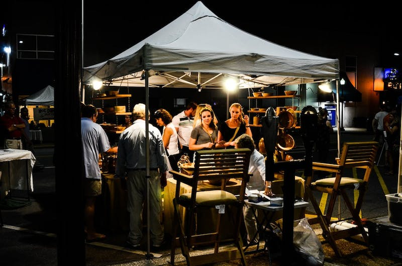 Vendors sold homemade goods at the SummerNight Downtown Art Walk Friday, June 13.  Raye May / PHOTO & DESIGN EDITOR