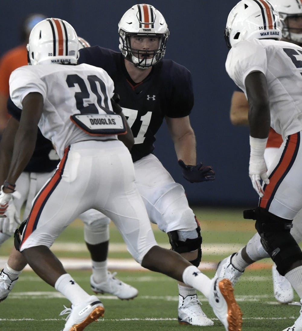 Auburn's dominant defensive front easing grad transfer Jack Driscoll's transition