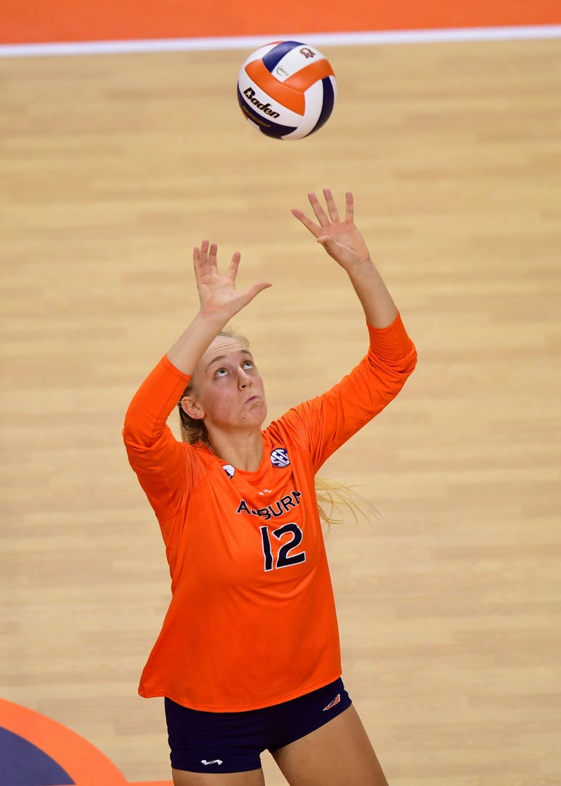 Oct 21, 2020; Auburn, AL, USA; Auburn Tigers Marissa Hines (12) during the game between Auburn and Florida at Auburn Arena.