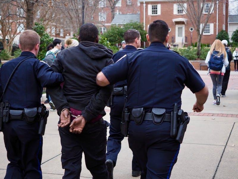The Auburn Police Department took a man into custody on campus on Thursday, Jan. 24, 2019 in Auburn, Ala.