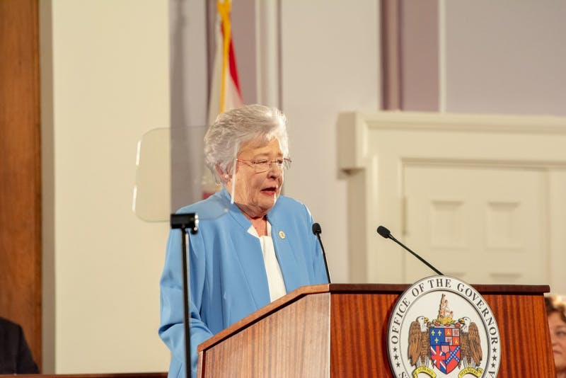 Gov. Kay Ivey delivers the 2019 state of the state address before a joint session of the Alabama Legislature in the Old House Chambers of the Alabama State Capitol on March 5, 2019.