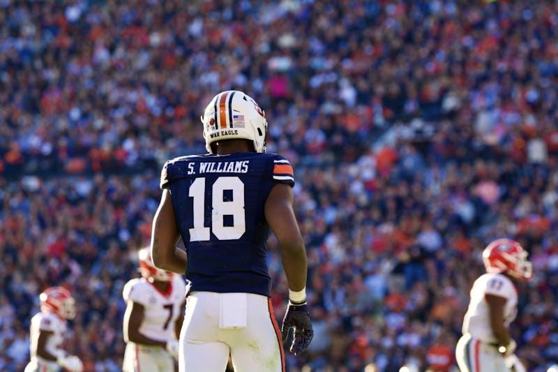 Seth Williams (18) during the Auburn vs. Georgia game on Saturday, Nov. 16, 2019, in Auburn, Ala.