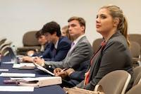 Senators listenat SGA Senate in Auburn, Ala. on Monday, April 23, 2018.