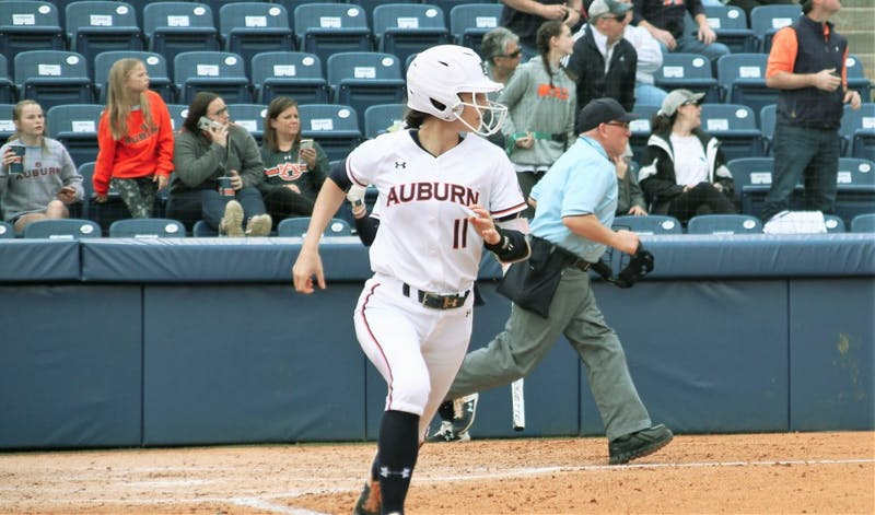 Auburn's Casey McCrackin hits a home run against Furman on Sunday, February 17, 2019, in Auburn, Ala.