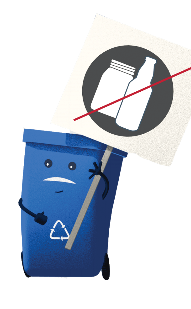 Plastic bags and glass shards are some of the most common contaminants in Auburn's recycling system.