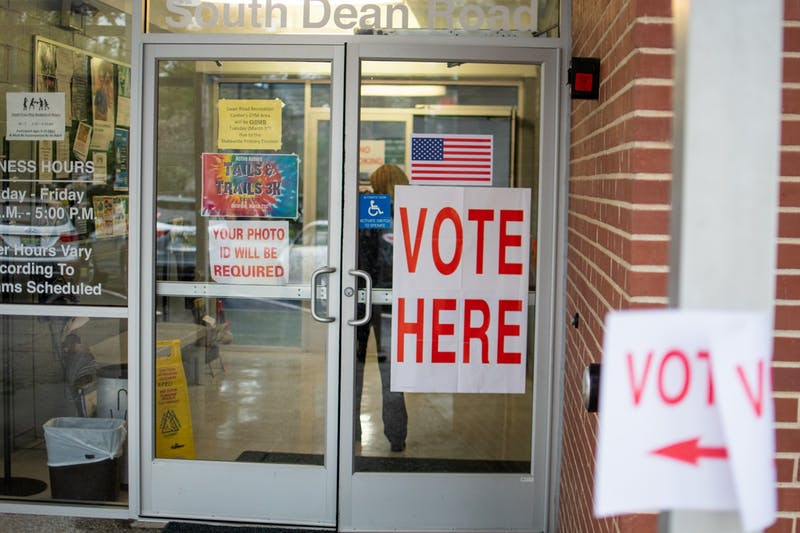 A polling station on Tuesday, March. 3, 2020, in Auburn, Ala.