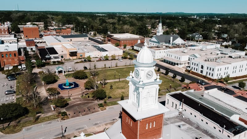 Downtown Opelika is about 20 minutes from Auburn University's campus.