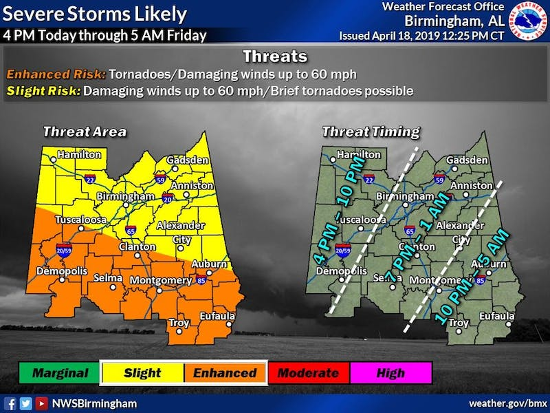 Severe weather is possible late Thursday evening into Friday morning.