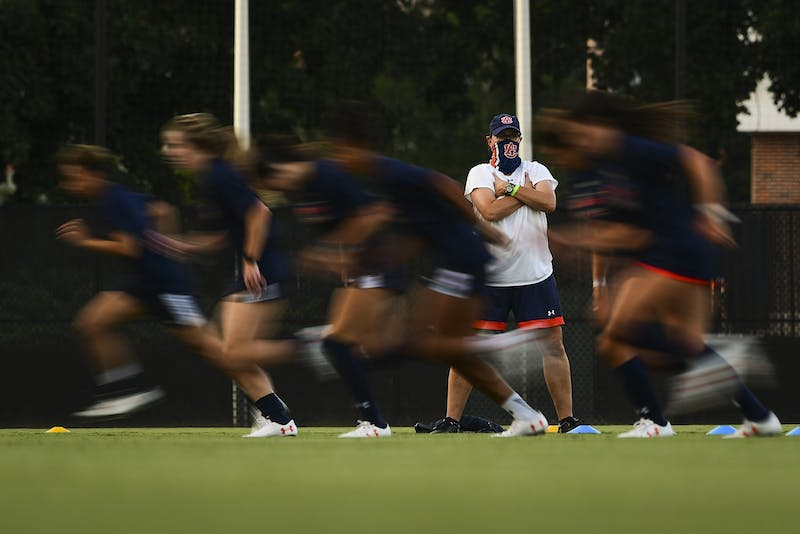 Aug 4, 2020; Auburn, AL, USA; Views during soccer practice at Auburn Soccer Complex. Mandatory Credit: Shanna Lockwood/AU Athletics