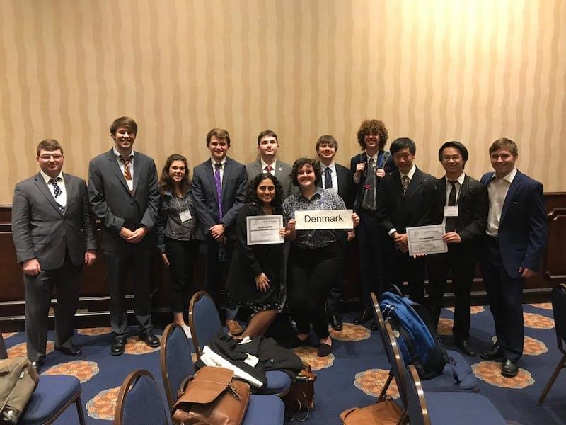 Model UN team. Photo creds: Ali Sanchez, President.