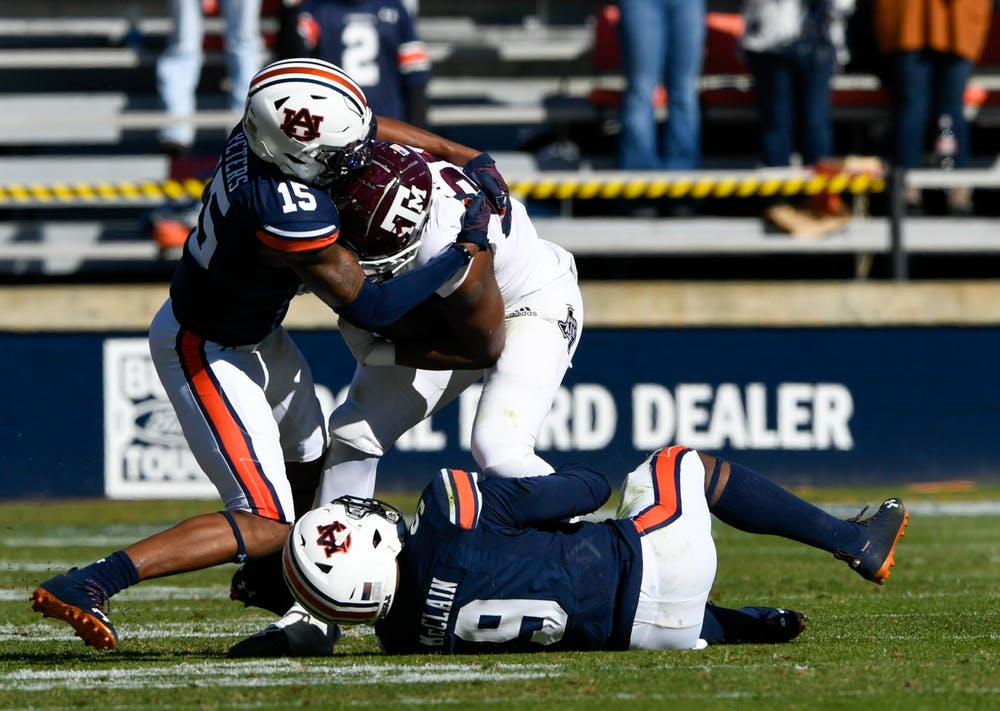 Auburn unable to stop the run in 31-20 loss to A&M