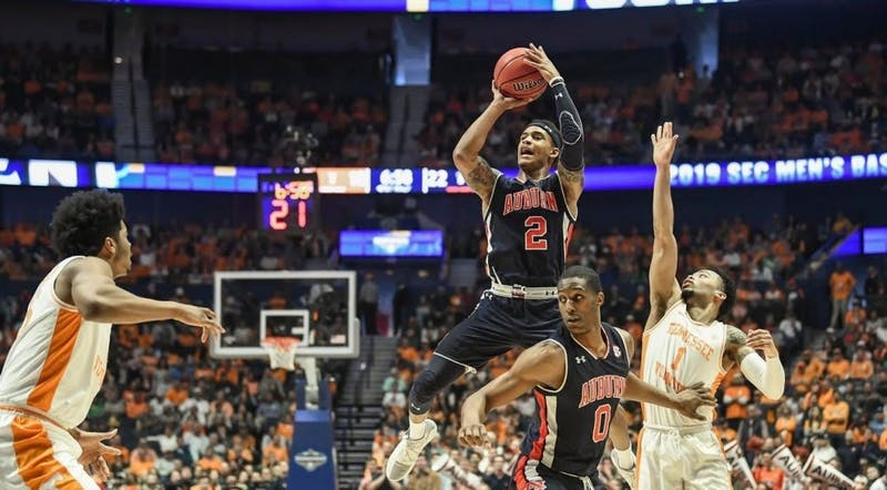 Bryce Brown (2). Auburn men's basketball vs Tennessee during the SEC Basketball Tournament Championship game on Sunday, March 17, 2019, in Nashville, Tenn.
