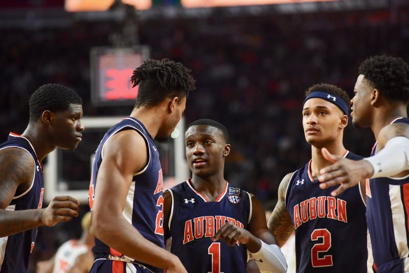 The Auburn Tigers during UVA vs. Auburn on Saturday, April 6, 2019, in Minneapolis, Minn.