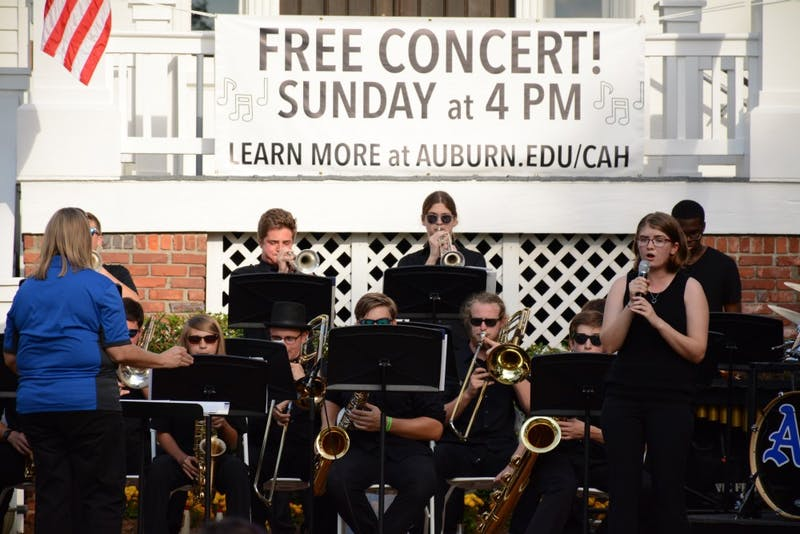 Auburn High School Jazz Band performs at Celebrate The Arts held at Pebble Hill on September 30 in Auburn, Ala.