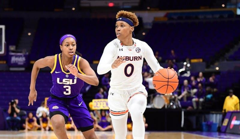 Daisa Alexander (0) during Auburn women's basketball vs. LSU on March 3, 2019, in Baton Rouge, La. Via Auburn Athletics.