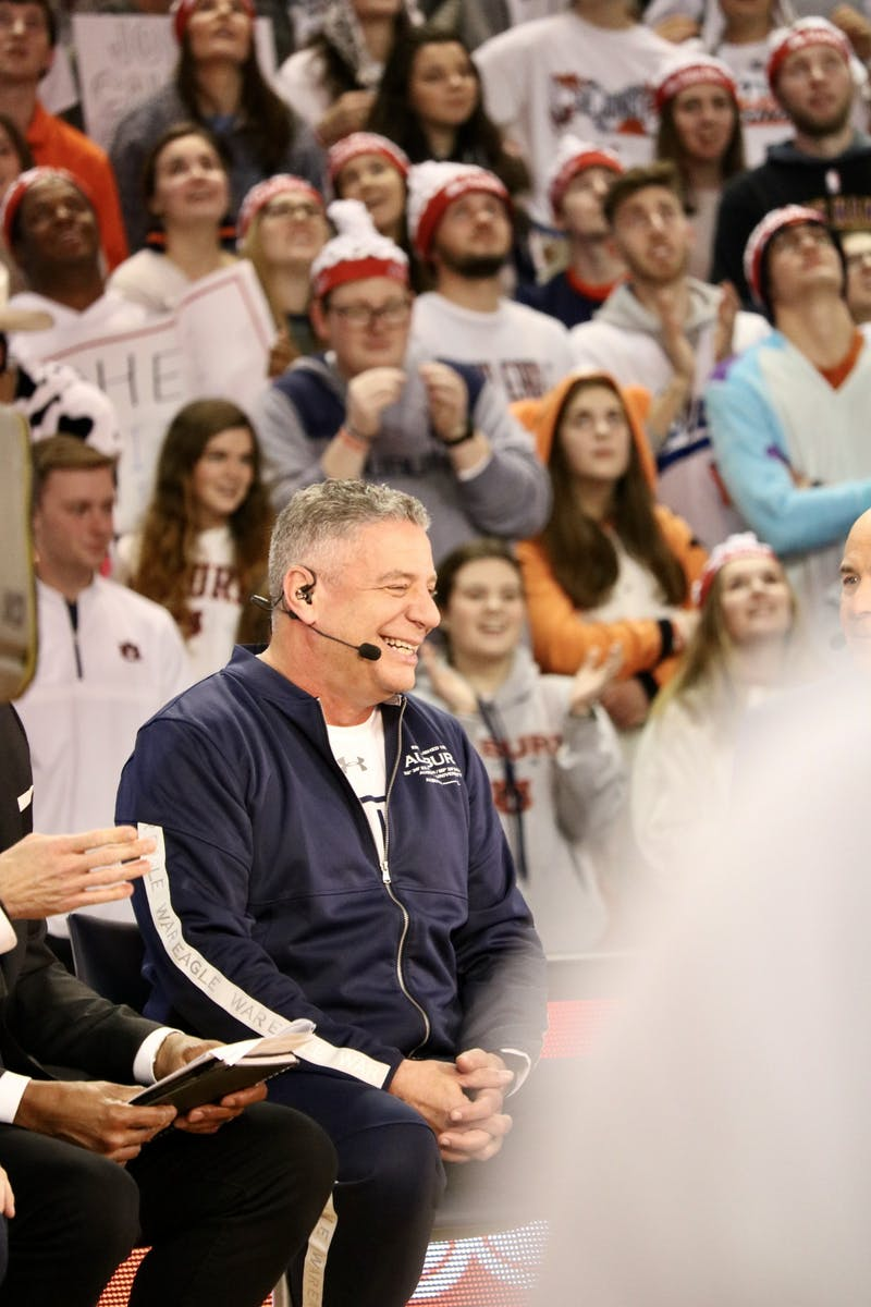 Bruce Pearl during College Game Day on Saturday, Feb. 1, 2020, in Auburn, Ala.