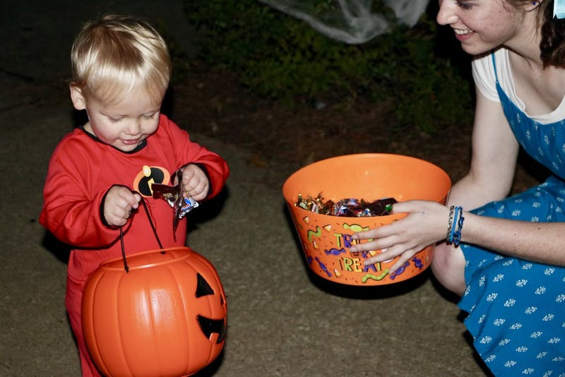 The Quad residence halls put on their annual trick or treat event on Oct. 31, 2018, in Auburn, Ala.