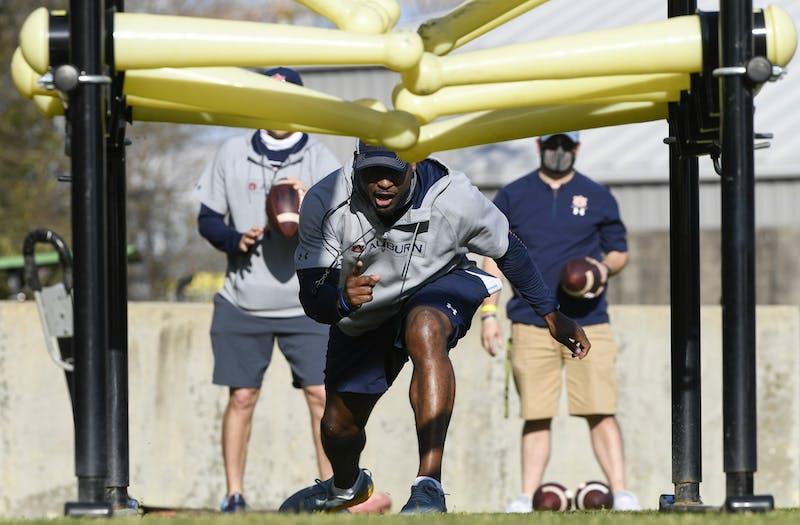 Coach Carnell Williams Auburn football practice on Monday, March 22, 2021 in Auburn, Ala.Todd Van Emst/AU Athletics