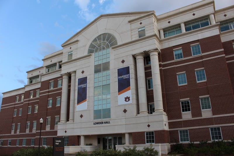 Lowder Hall is home to the Harbert College of Business. taken on Saturday, Feb 24, 2018 in Auburn, Ala.
