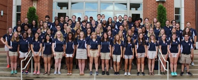 The 2018-2018 Auburn University resident assistants pose for a photo.
