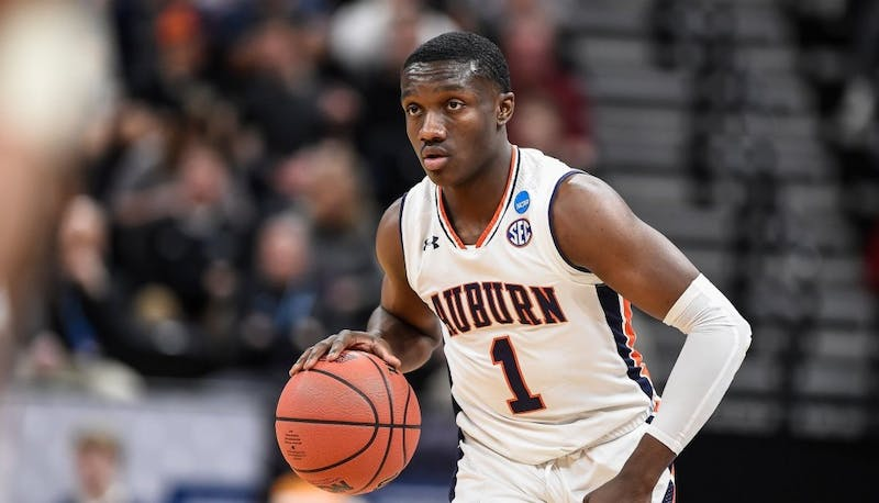Jared Harper (1) during Auburn men's basketball vs. New Mexico State in the NCAA Tournament on March 21, 2019, in Salt Lake City. Via Auburn Athletics and @AuburnMBB on Twitter.