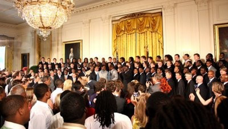 Team meets with President Barack Obama