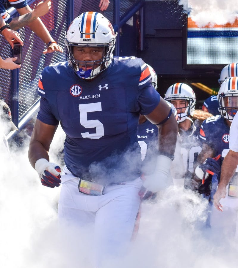 Derrick Brown during pre-game Auburn Football vs. LSU on Saturday, Sept. 15, 2018 in Auburn, Ala.