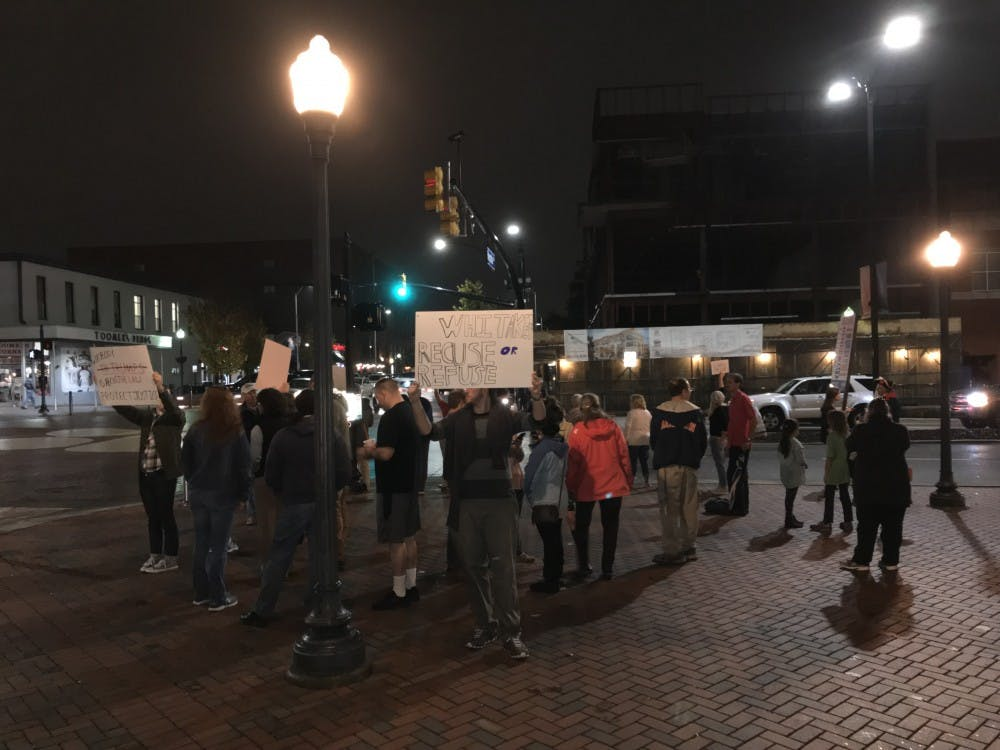 Protesters speak out against Sessions firing, new acting attorney general