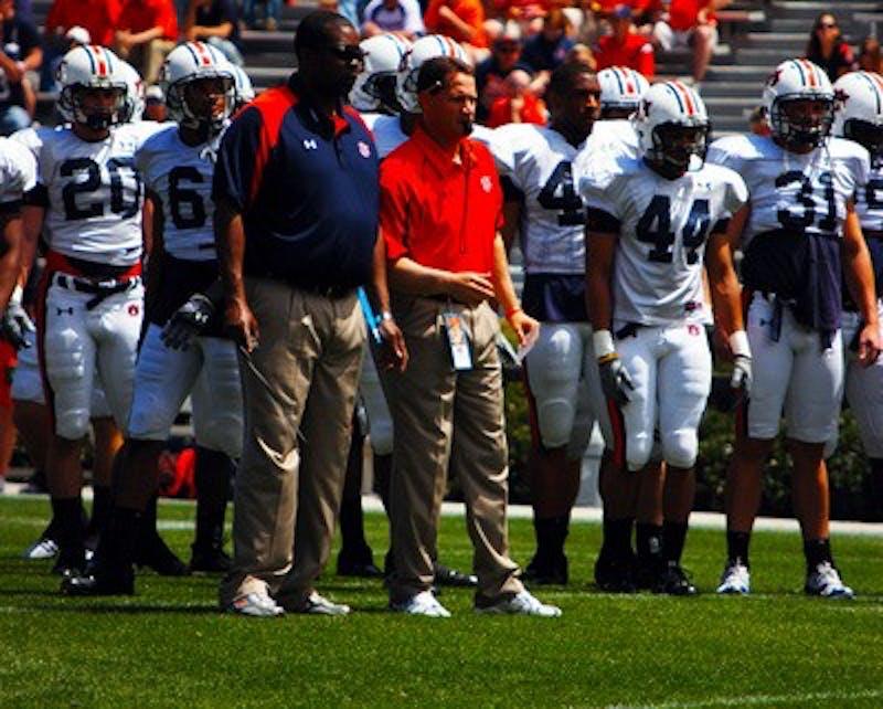 Coach Chizik in A-Day 2009