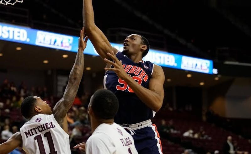 Austin Wiley (50) at Texas A&M – Jan. 16, 2019 Credit: Jerome Hicks/Auburn Athletics