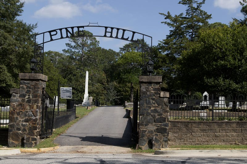 Pine Hill Cemetery, located on Armstrong St., is one of the many stops on the Spectral Investigators' haunted tours in Auburn, AL.