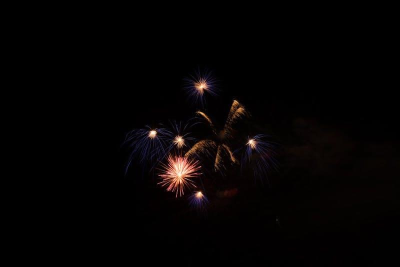 Fourth of July fireworks on July 4, 2019, in Auburn, Ala.