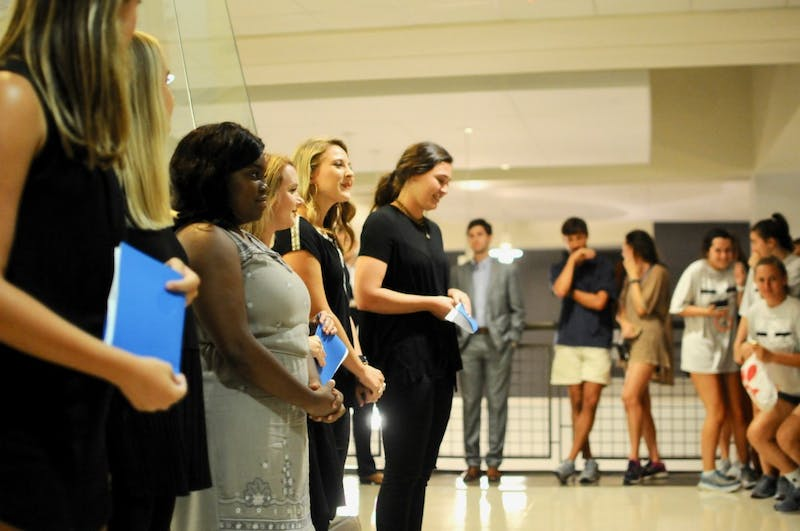 SGA announced the Top 20 Miss Homecoming candidates in the Student Center on Tuesday, Sept. 4, 2018 in Auburn, Ala.