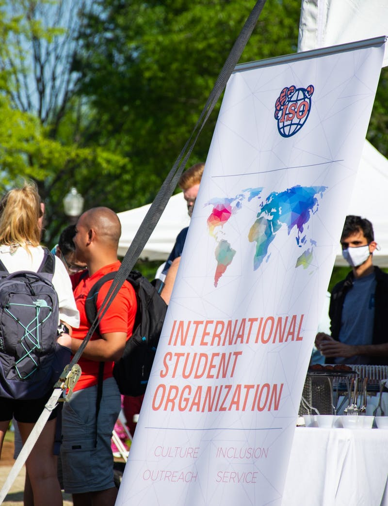 ISO hosted its World's Fair on Tuesday, April 6, inviting different international student groups to the Green Space to showcase their cultures.