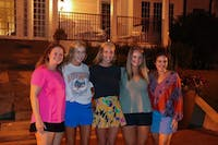 Caroline Matthews, Alison Beverly, Mary Stewart, Maggie Hightower and Sophie Brint are called at Auburn Universities Miss Homecoming Callouts on Aug. 21, 2019, in Auburn, Ala.