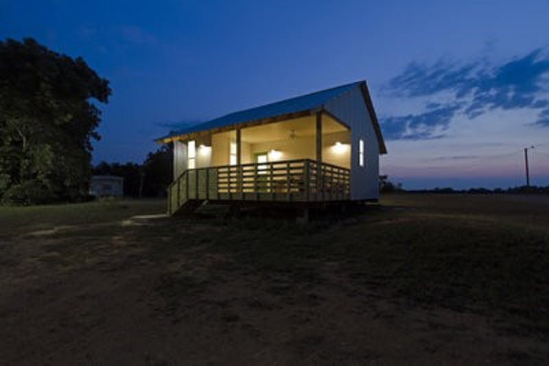 Students involved with Rural Studios build one $20,000 home, such as the home shown above, per year.