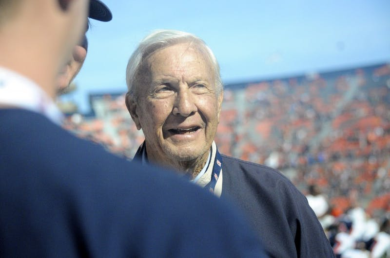 Pat Dye greets fans before Auburn Football vs Vanderbilt on Saturday, Nov. 5, 2016 in Auburn, Ala.