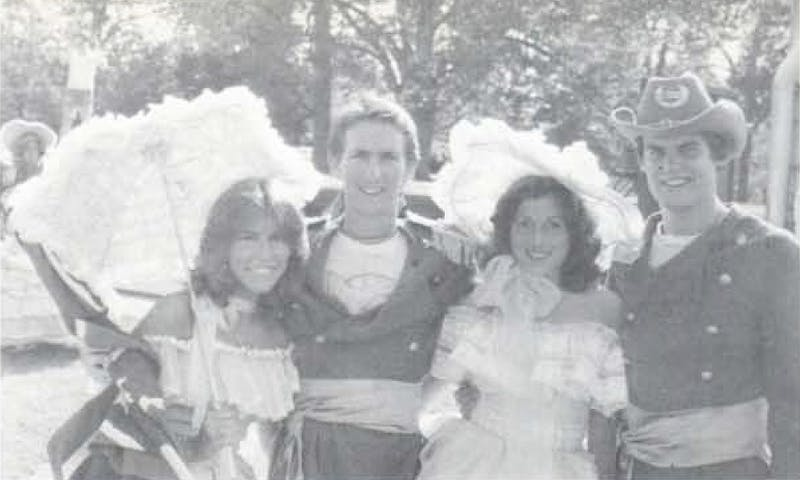 Tennessee Gov. Bill Lee, right, is pictured wearing a Confederate uniform in the 1980 edition of Auburn's yearbook, the Glomerata.