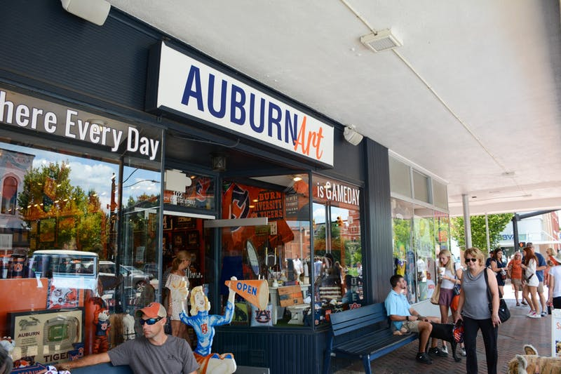 Auburn Art on North College Street ahead of the football game against Akron on Saturday, Sept. 4, 2021, in Auburn, Ala.