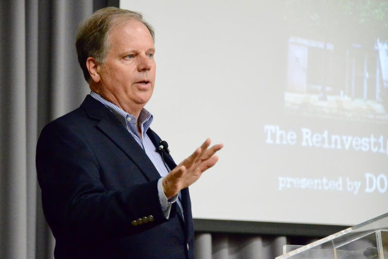Senator Doug Jones during his visit to Auburn University on April 24, 2019, in Auburn AL.