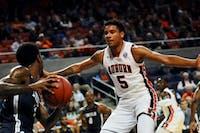 Chuma Okeke (5) on defense during Auburn Men's Basketball vs. Lincoln Memorial on Nov. 2, 2018, in Auburn, Ala.